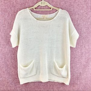 Michael Kors Off White Pullover Boxy Sweater M